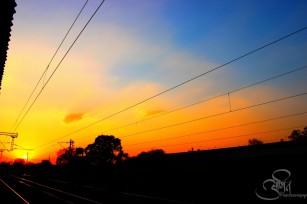 Amazing sun set @ Wardha Station